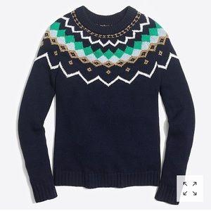 NWT J. Crew Fair Isle Sweater